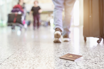 Travelers lost their passport at the airport