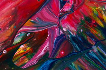 Zelfklevend Fotobehang Paradijsvogel Abstract paint background