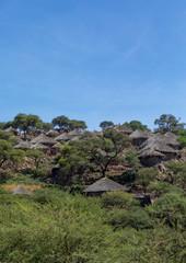 Raya tribe village in the hills, Afar region, Chifra, Ethiopia
