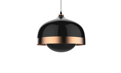 3D illustration of a pendant ceiling lamp isolated on white