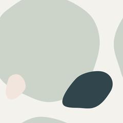 Mint Green Organic Shapes Pattern