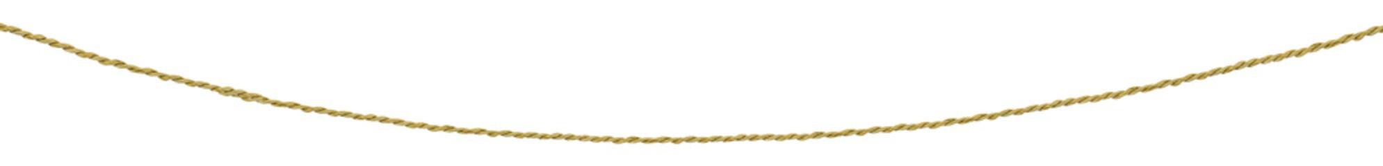 ficelle courbe sur fond blanc