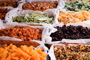 crystallized fruits in a arabic market