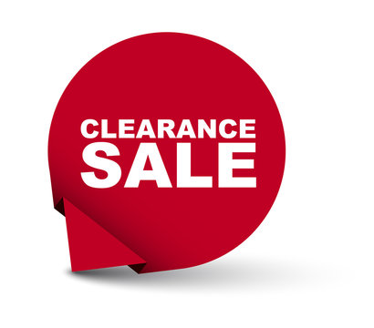 red vector banner clearance sale