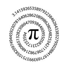 pi, symbol, constant, number, vector, math, sign, day, mathematics, mathematical, icon, geometry, irrational, greek, diameter, ratio, formula, education, illustration, science, university, pie, 14, ba