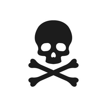 Skull and bones illustration. Vector. Isolated.