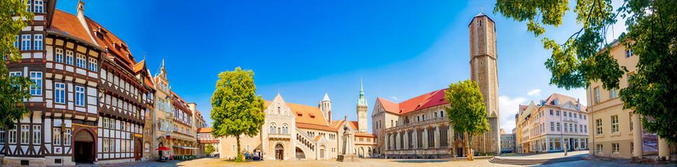 Braunschweig mit Löwentein, Dom und Burg Dankwarderode, Niedersachsen