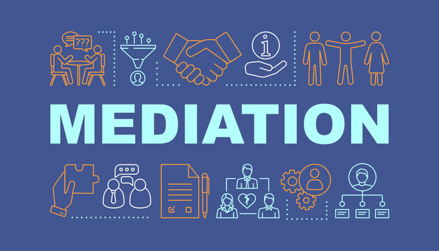 Mediation word concepts banner