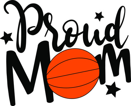 Proud mom decoration for T-shirt