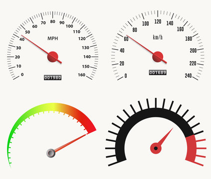 Speedometer measuring scale. speed test, download, loading interface