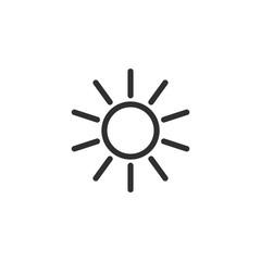 Sun icon vector isolated. Sun line vector icons. sun logo design inspiration