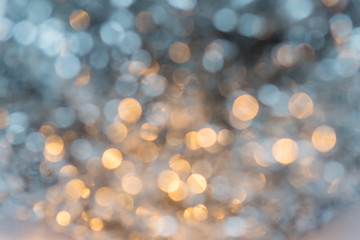 Abstract gold and white bokeh
