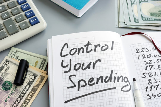 Control your spending concept. Home budget and money.