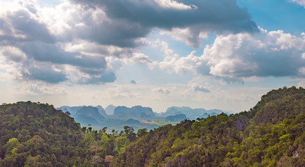 scenic view to rain forest in Krabi Thailand
