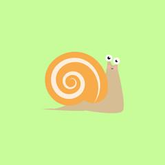 Snail, cartoon, illustration, animal color icon