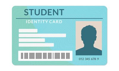 Student ID card. University, school, college identity card. Vector illustration.