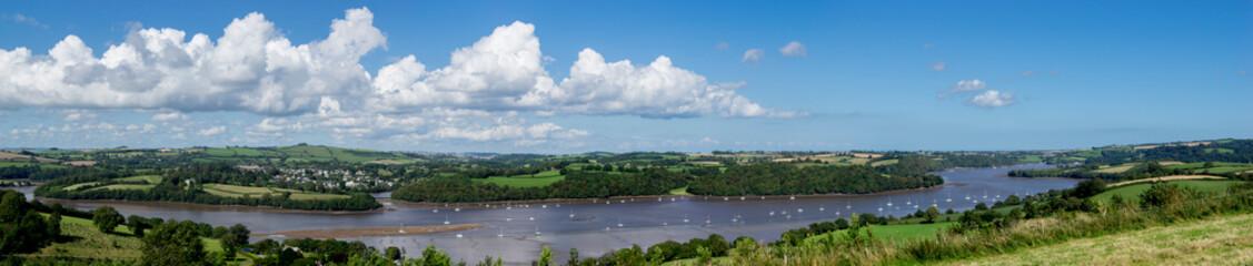 UK, England, Devon, Dart valley panorama