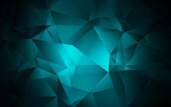 Dark BLUE vector shining triangular layout.