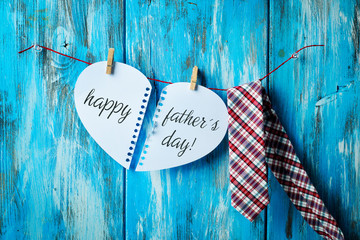 necktie and text happy fathers day