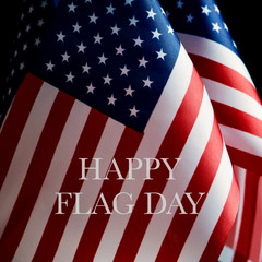 american flags and text happy flag day