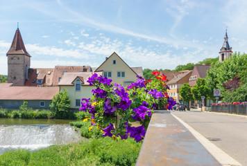 Brücke über die Tauber in Creglingen