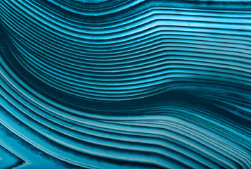 Printed kitchen splashbacks Macro photography cyan agate lines macro texture