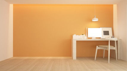Wall Mural - The interior living minimal space in apartment and background style - 3D Rendering