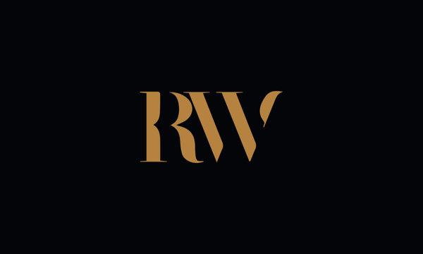 RW logo design template vector illustration