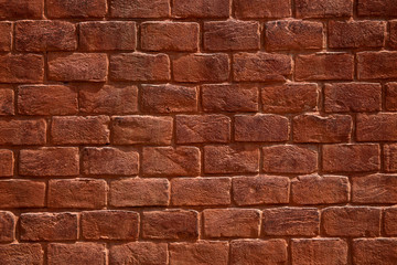 old red brick wall background or texture
