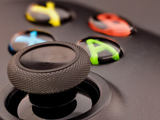 Papiers peints Macro photographie Xbox controller thumbstick and buttons macro