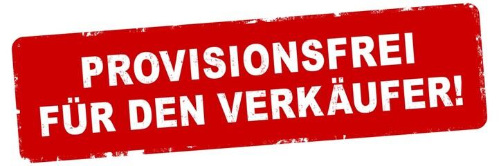 nlsb465 NewLongStampBanner nlsb - german text - Provisionsfrei für den Verkäufer: Stempel / einfach / rot / Vorlage - Seitenverhältnis 3:1 - 3zu1 - new-version - xxl g7776