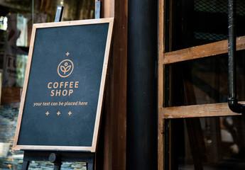 Blackboard Coffee Sign Mockup