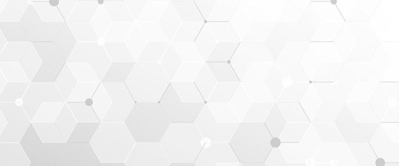 Abstract geometric white and gray futuristic background