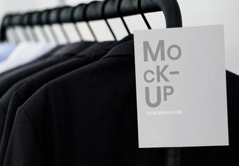 Sign on Clothing Rack Mockup