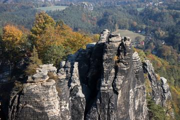 Obraz Szwajcaria Saksońska - góry - fototapety do salonu