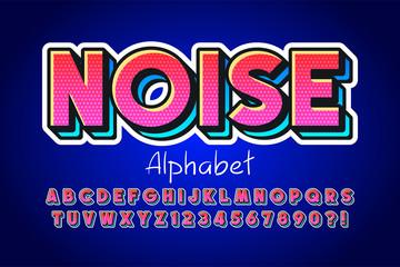 Foto auf Leinwand Pop Art Colorful 3d display font design, alphabet, letters