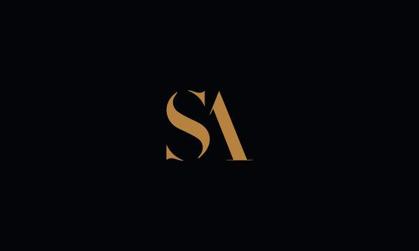 SA logo design template vector illustration