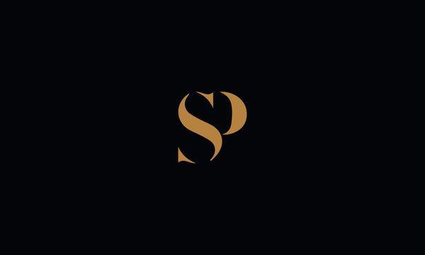 SP logo design template vector illustration