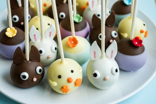 Assorted Easter cake pops.
