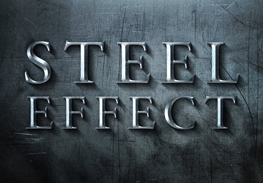 Brushed Steel Text Effect