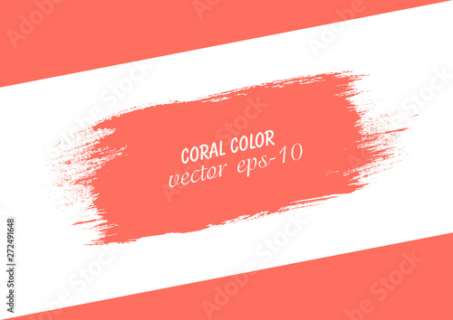 Coral strip paint  Roller brushes with colors paint for text