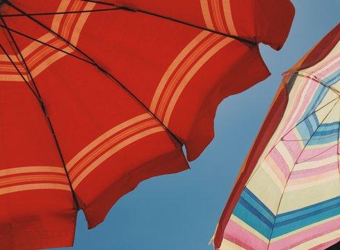 Two umbrella in the summer sun