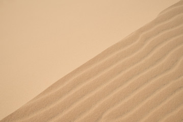 Abstract background of wind effect on dunes at desert.