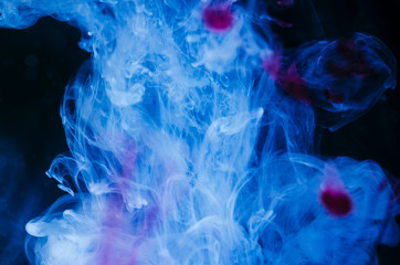 Abstract blue fluid