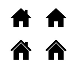 set of home icons isolated on white background. vector illustration.