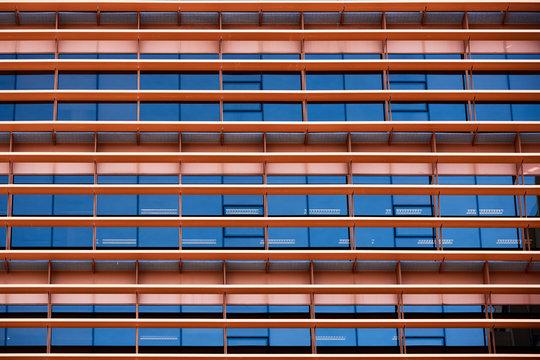 Abstract facade with windows