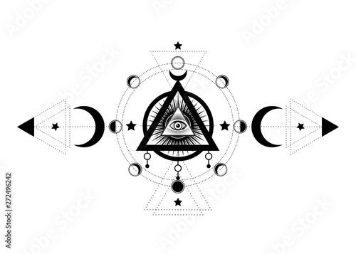 Eye of Providence  Masonic symbol  All seeing eye inside