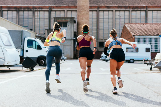 Group of professional runners.