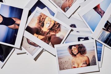 Sexy girl in bikini on the sunny beach.