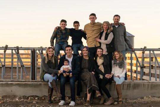 Three Generation Family Portrait